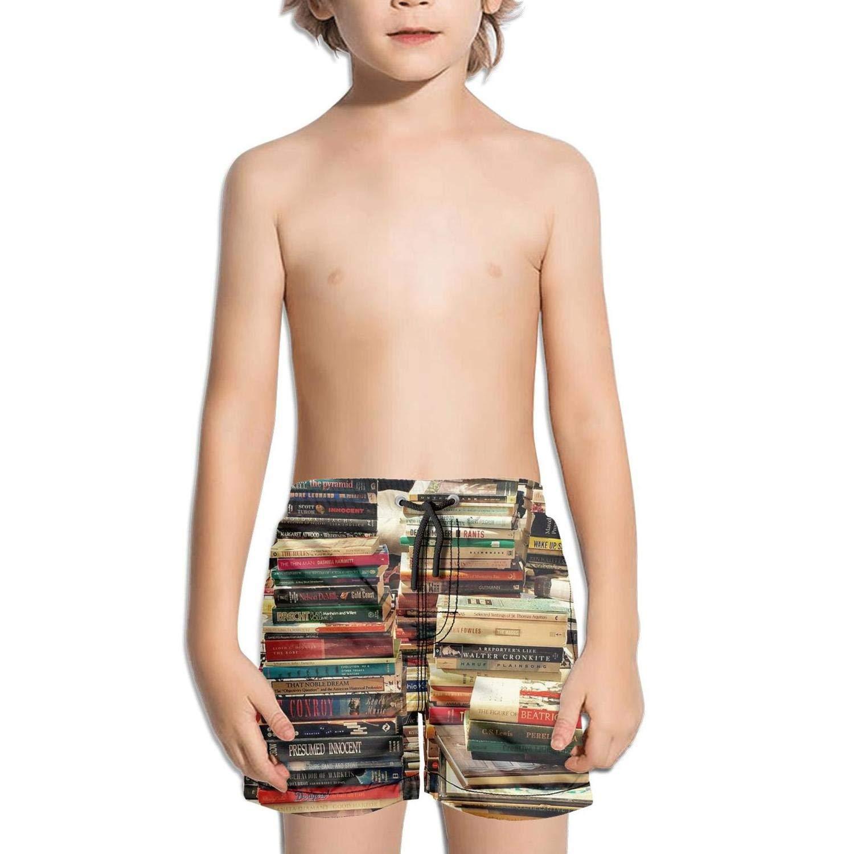Ouxioaz Boys' Swim Trunk Library Books Love Reading Beach Board Shorts