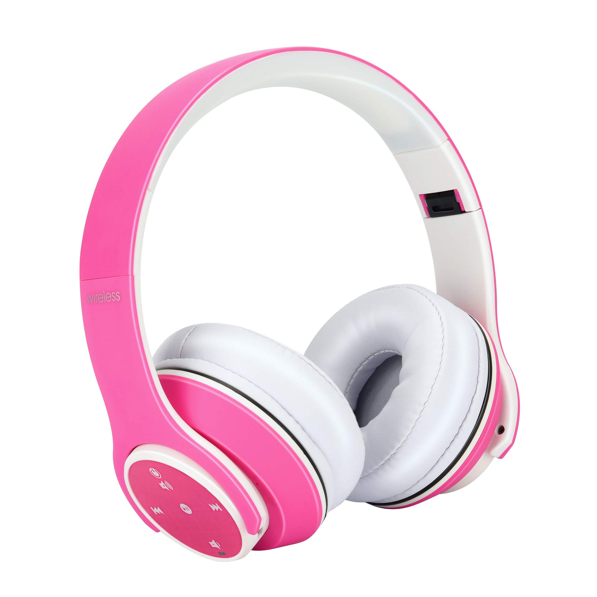 OUYAWEI OY5Plus Wireless Bluetooth Headphones Stereo Music Headset MP3 Player FM Radio 3.5mm Wired Earphone Hands-free with Mic Pink