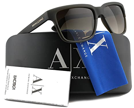 7fba22331fbb Armani Exchange AX4026S Sunglasses Matte Brown w/Brown Gradient (8121/13) AX  4026S 812113 56mm Authentic: Amazon.co.uk: Clothing