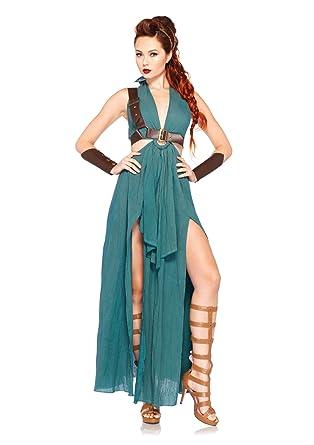 amazon costume. leg avenue womenu0027s 4 piece warrior maiden costume green small amazon n
