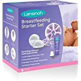 Lansinoh Breastfeeding Starter Set for Nursing Mothers, Breastfeeding Baby Showers and New Moms, Contains Nursing Essentials and Breast Therapy