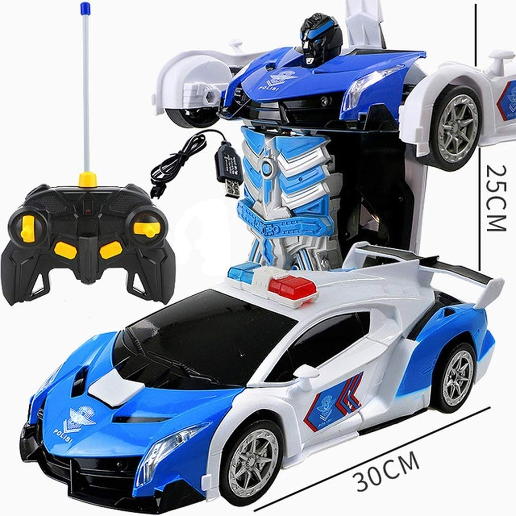 popular azul And blanco QRFDIAN Deformación de Juguetes Juguetes Juguetes para niñosIngeniería de vehículosTransformadores Serie Robot Modelo Regalo de Juguete Estatua (Color   azul and blanco)  Envío 100% gratuito