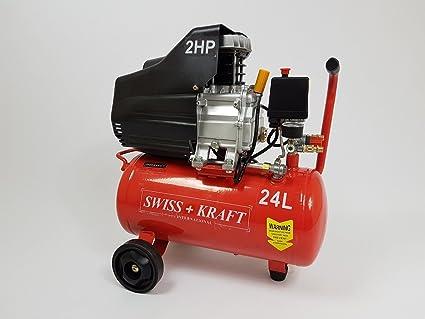 24L Taller Compresor De Aire Comprimido Compresor 1500 W 2PS Compresor De Aire Comprimido