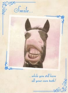Hippo birthday card does my bum look big in this amazon horse smile birthday card while you still have all your own bookmarktalkfo Image collections