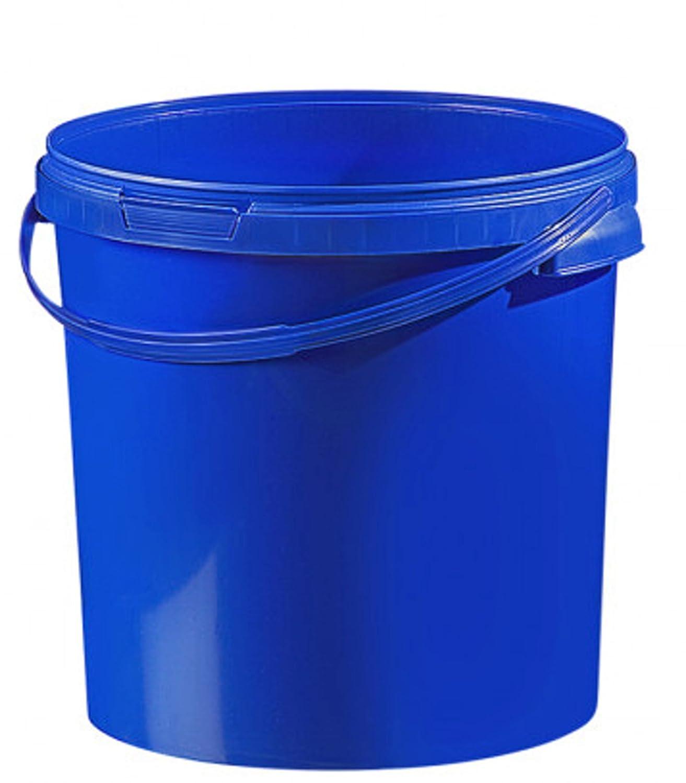 Secchio in plastica, colorato, 21,1 litri con coperchio (1 pezzo), Plastica, verde, 20 litri fuduu.de