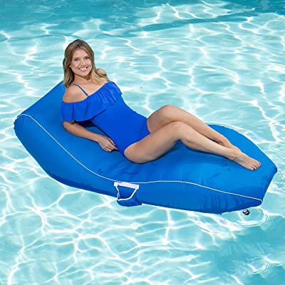 Suntan Lounge Contour Shape Pool Chair (Blue): Toys & Games