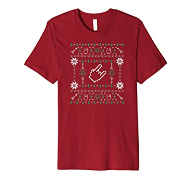 mens heavy metal ugly christmas sweater t shirt 2xl cranberry - Metal Christmas Sweater