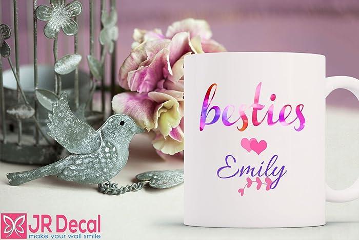 Amazon.com: Personalised Best Friend mug cup bff bestie Name ...