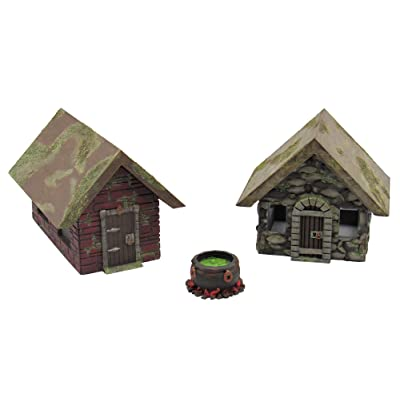 EnderToys Stone Houses, Terrain Scenery for Tabletop 28mm Miniatures Wargame, 3D Printed and Paintable: Toys & Games