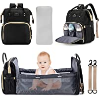 3 in 1 Diaper Bag Backpack Travel Bassinet Portable Baby Bed, Baby Diaper Bag with Changing Station, Foldable Baby Crib…