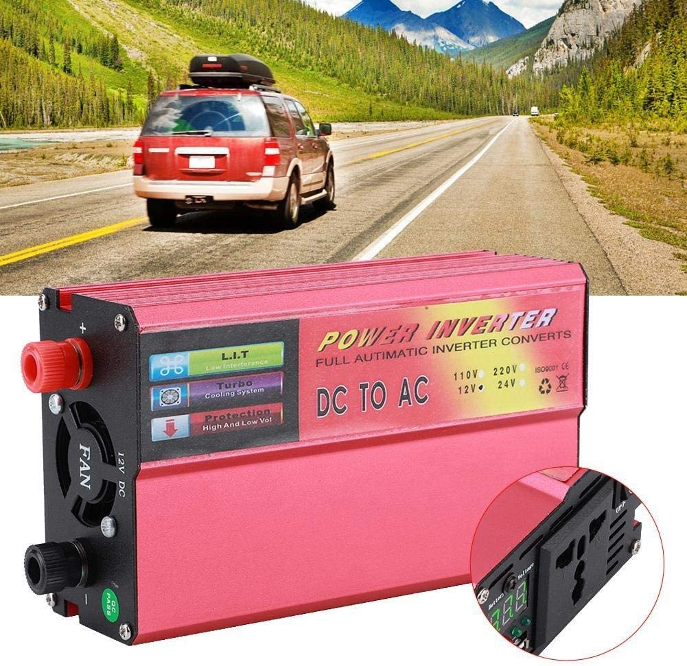 AC 220V-240V Dingln 5000W Car Power Inverter DC 12V To AC Modified Sine Wave With Data Display Universal Socket USB Interface