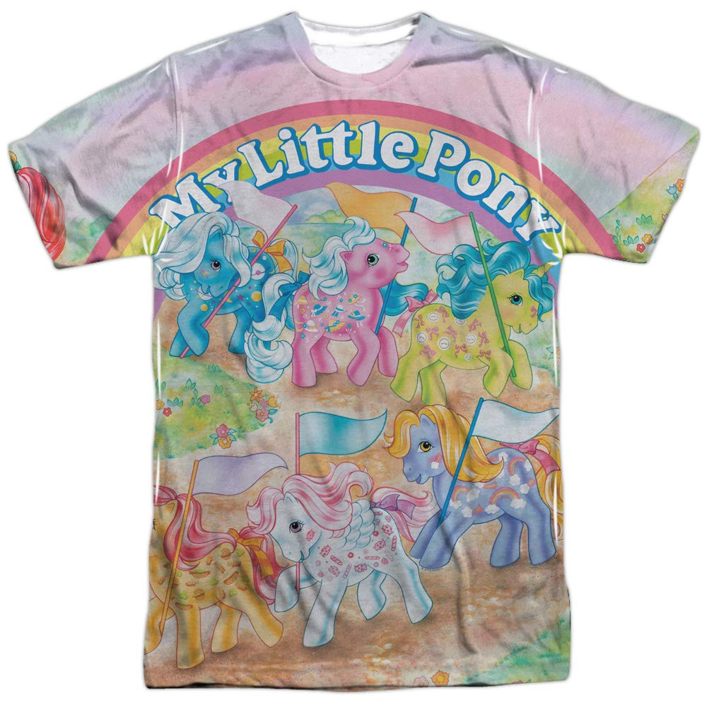 My Little Pony Retro Classic Ponies Unisex Adult Front Only Sublimated T Shirt for Men and Women
