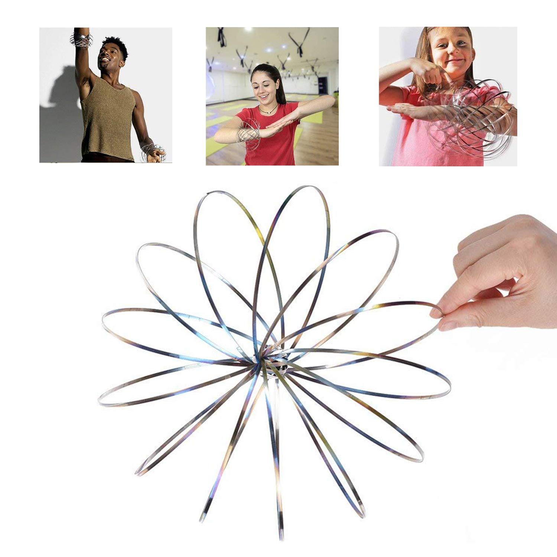 SOWEE Magic Ring Flow Ring Kinetic Dekompression Spielzeug 3D Skulptur Ring Armband - fü r Kinder und Erwachsene