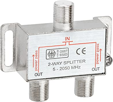 SPLIT TV ANTENNA COAX COAXIAL CABLE TO 4 OUTLETS 4 WAY F TYPE SPLITTER