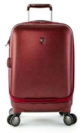 Equipaje, Maletas y Bolsas de Viaje - Premium Designer Maleta Rígida - Heys Crown Smart Portal Rosso Bourdeaux Equipaje de Mano: Amazon.es: Equipaje