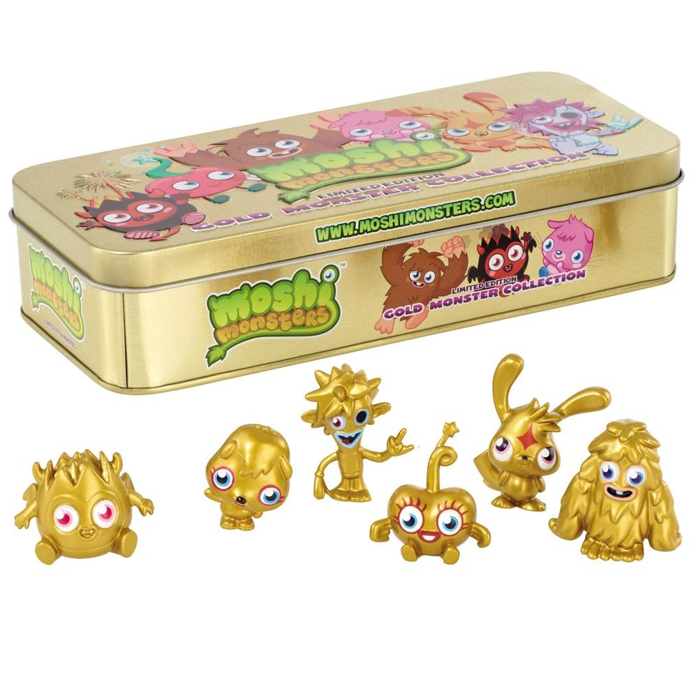 Moshi monsters collection tin golden