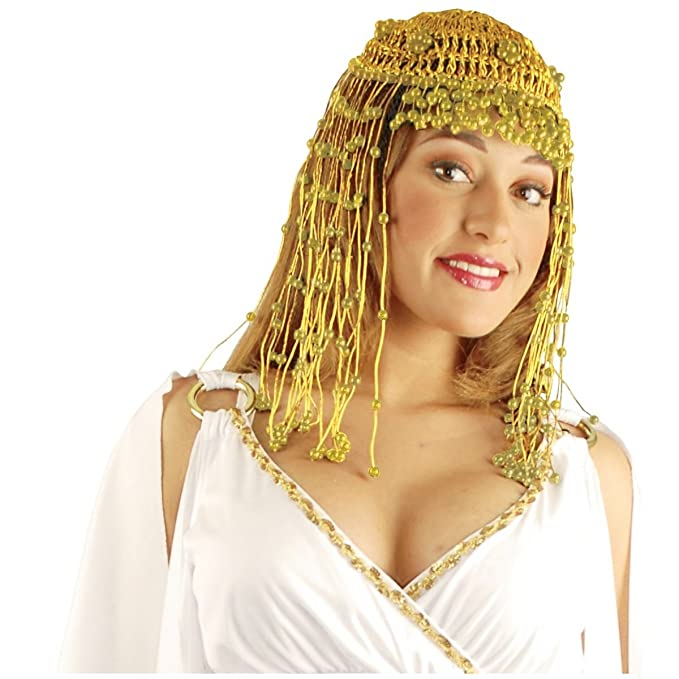 a5205be3292 Amazon.com  Jacobson Hat Company Cleopatra Headpiece in Gold  Clothing