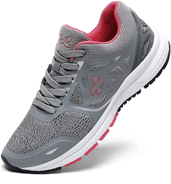 XIDISO Femme Baskets Casual Running Chaussures Respirant l/éger Sneakers Walking Gym Fitness Sport Style Multicolore