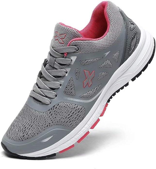 XIDISO Zapatos de Running para Mujer Zapatillas Calzado Ligero Sneakers para Caminar Gimnasio Zapatos Deporte Correr Fitness Escuela