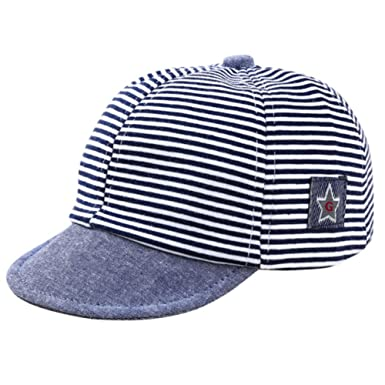 4fd80d05758 Balai Toddler Baby star embroidery Cotton Cap Kids Stripe Summer Autumn Sun  Hat  Amazon.co.uk  Clothing