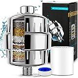 Filtro Regadera, 15 Etapas Filtro de Ducha Agua Universal, Purificador de Agua para Elimina Cloro/Impurezas y Olores Desagrad