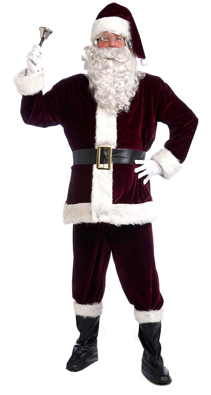 7aa8b2d67f1e Amazon.com  Forum Novelties Men s Plus Size Velvet Santa Suit ...