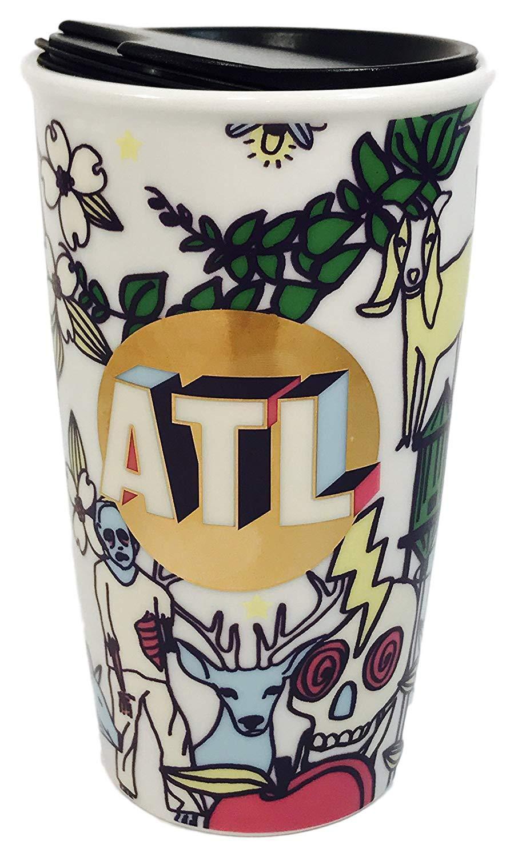 Starbucks Atlanta Georgia ATL Zombie Limited Edition Ceramic Travel Tumbler Double Wall 12 Fl Oz