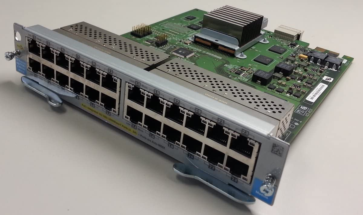 HP J9307A 24-Port 10/100/1000 PoE+ Gigabit Ethernet Switching Module