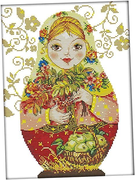 DIY Handarbeit Kreuzstich 14CT vorgezeichnet Stickerei Stickpackung Set von