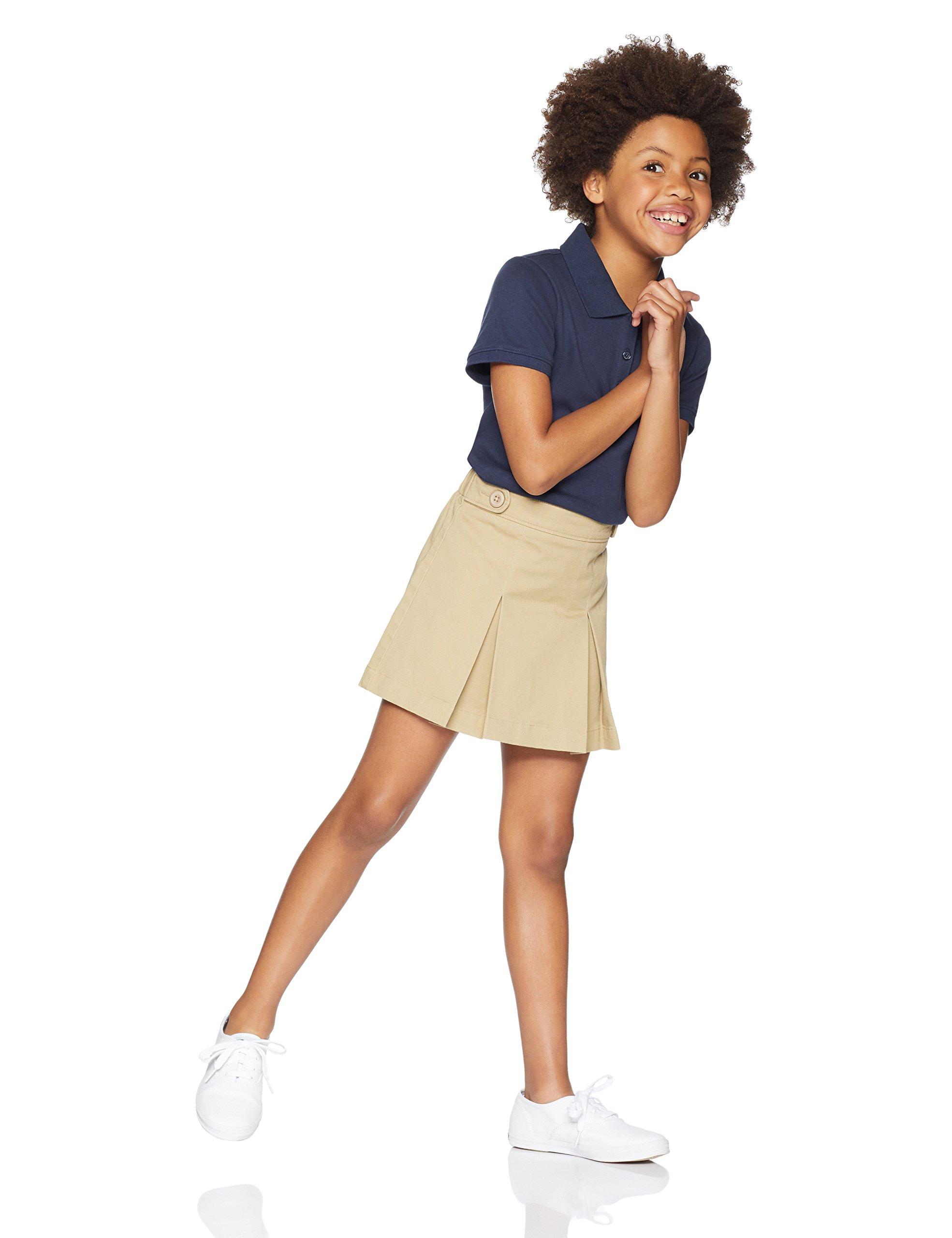 Amazon Essentials Girls' Uniform Skort, Khaki, L (10)