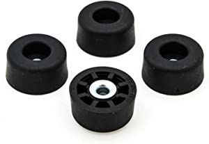 4 Large Tall Round Rubber Feet Bumpers - .625 H X 1.250 D - Made in USA -Heavy Duty, Non Marking, Perfect for Furniture, Tables, Chairs, Desks, Benches, Sofas, Chests, Other Large Items.