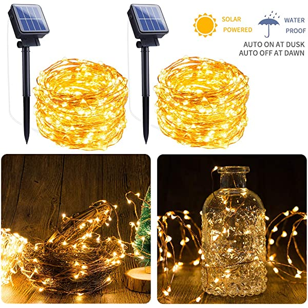 Lamps Lighting Ceiling Fans 2pack 100leds Solar String Fairy Lights Waterproof Wedding Christmas Diy Decor Home Garden Chaireeconomie Hec Ca