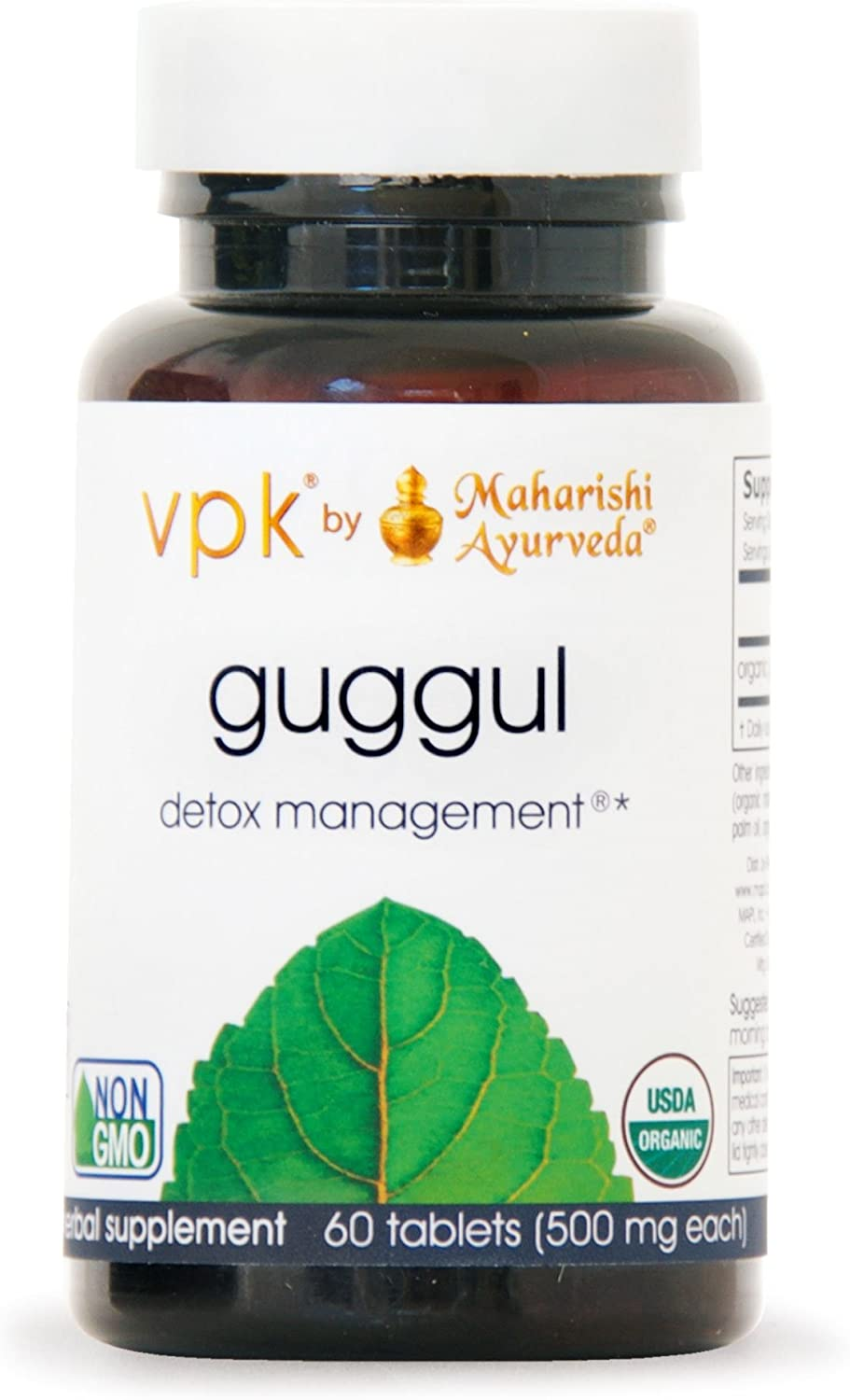 Organic Guggul – Kulreet Chaudhary The Prime 60 Herbal Tablets – 500 mg ea. Rejuvenate Cleanse the Lymph System Strengthens Joint Mobility Liver Detox