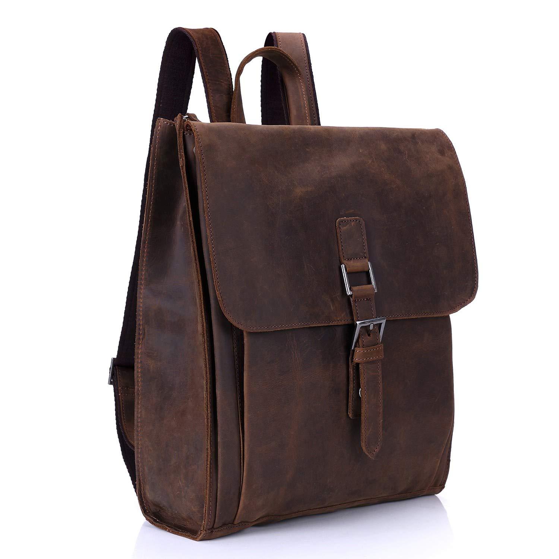 Travel bag,HoshellFirst Layer of Leather Shoulder Bag Travel Bag Leisure Backpack 15inch We can arrive in 2 to 3 days