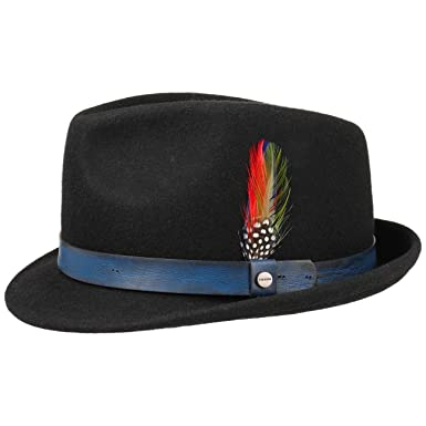 ae38fab3 Stetson Craston Trilby Wool Felt Hat Men | at Amazon Men's Clothing ...