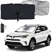 Moyidea Windshield Sun Shade Foldable Umbrella Reflective Sunshade for Car Front Window Blocks UV Rays Heat Keep Vehicle…
