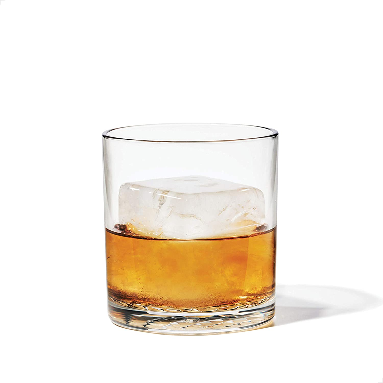 TOSSWARE 12oz Old Fashion SET OF 4, Tritan Dishwasher Safe & Heat Resistant Unbreakable Plastic Whiskey Glasses