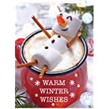 Cocoa Snowman Holiday Card Pack - Set of 25 cards - 1 design, versed inside with envelopes