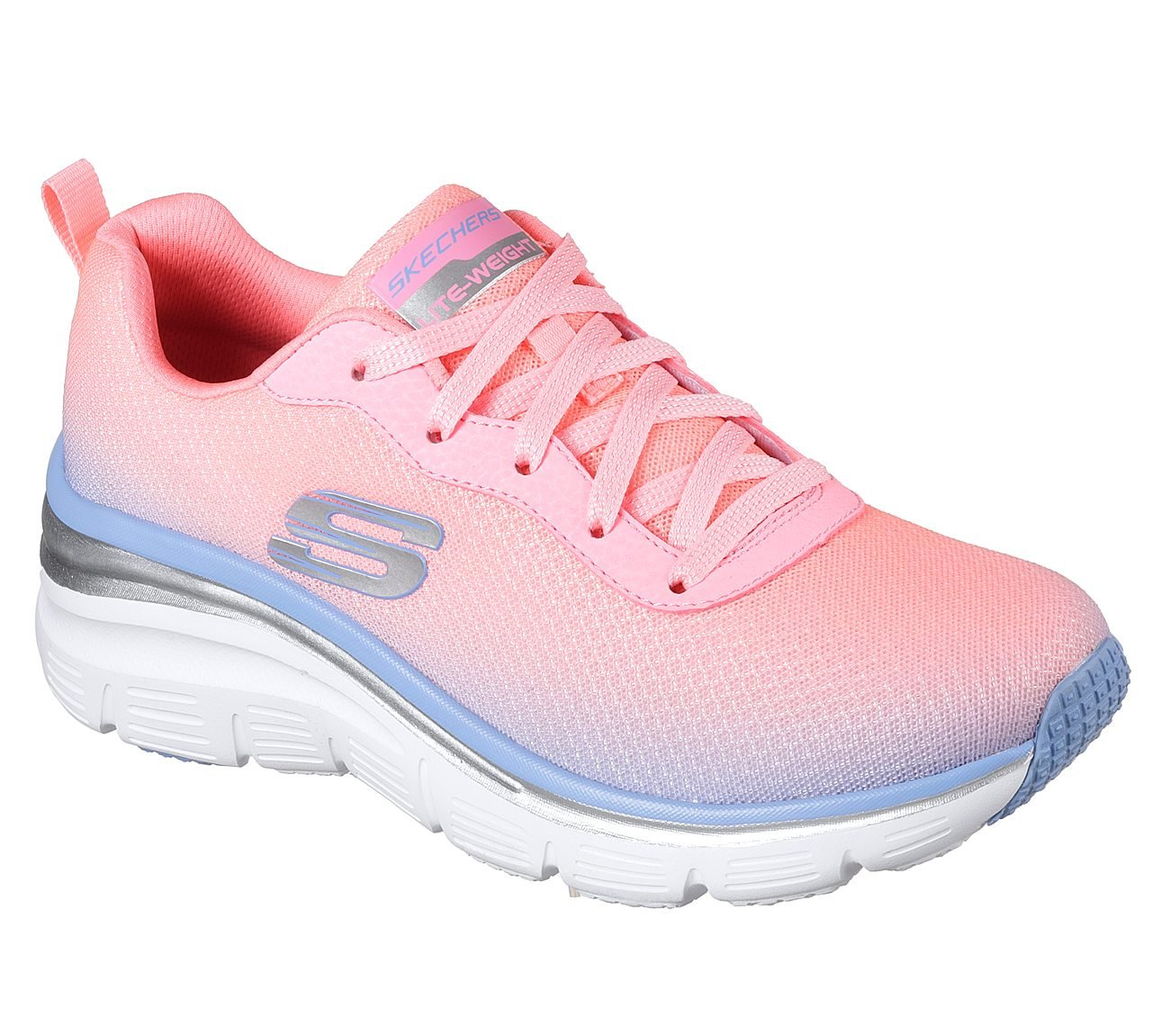 Skechers Fashion Fit Build up Womens Sneakers Pink/Lavender 9
