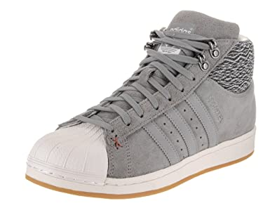 5b9ee8658be1 adidas Pro Model Bt Casual Men s Shoes Size 8 Grey White
