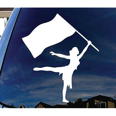 """CMI301 Color Guard Car Window Vinyl Decal Sticker 5"""" Wide: Automotive"""