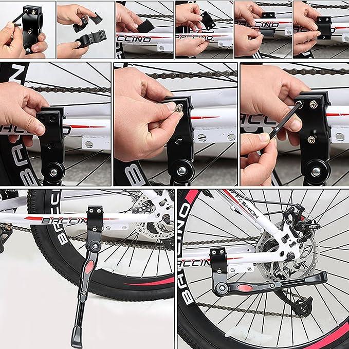 Pata de Cabra de Bicicletas, Pieza de Goma Antideslizante Universal Ajustable de la Altura Instalación Fácil Impermeable Surable Plegable Para la Bici de ...