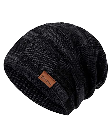 88e126ee520 Chunky Slouchy Cable Knit Beanie Oversized Slouch Beanie Hats for Men Women  - Stay Warm Stylish