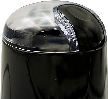 Capacidad 40g 0.04 kg 140 W Semillas Especias y Frutos Secos 0 Decibeles min Cuchilla Doble Acero Inoxidable Negro MPM MMK-07//C Molinillo caf/é el/éctrico peque/ño