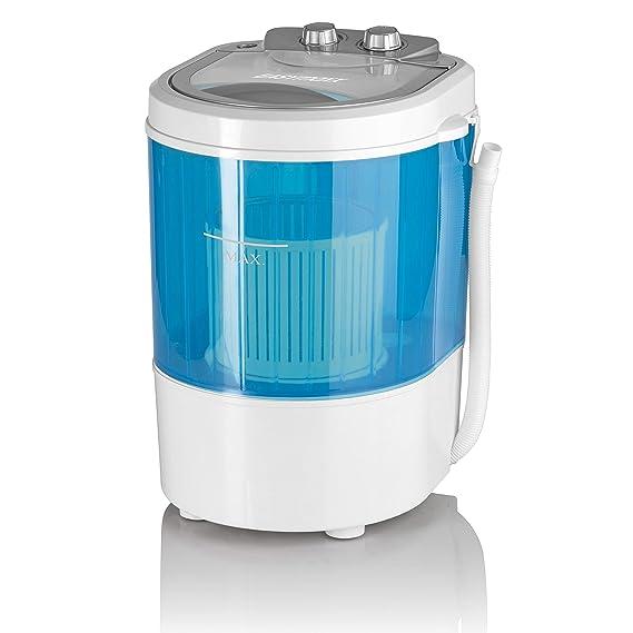 oneConcept Ecowash-Pico Edition 2019 Mini Waschmaschine Camping-Waschmaschine blau Toploader mit Schleuder-Funktion für 3,5 kg Wäsche, 380 Watt, energie-und wassersparend, Timer