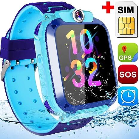 Amazon.com: Reloj inteligente impermeable para niños, reloj ...
