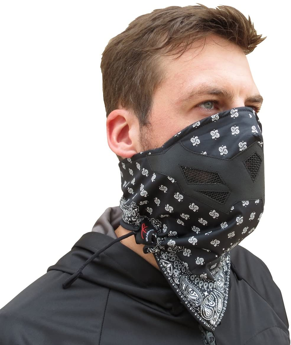 Grace Folly Half Face Mask for Cold Winter Weather. Use This Half Balaclava for Snowboarding, Ski, Motorcycle. (Many Colors)