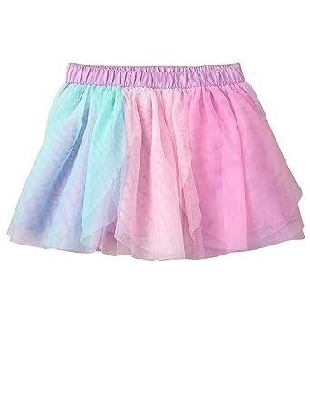 5b80db2269 Gymboree Girls' Toddler Multi Color Panel Tutu Skirt, Pink/Blue, ...