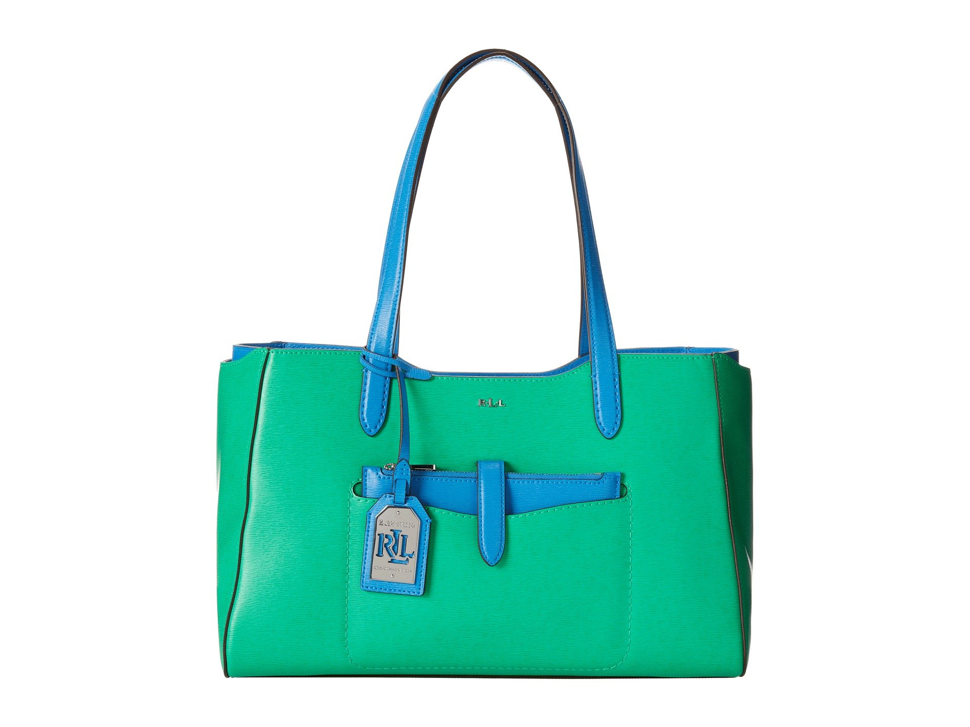 Ralph Lauren Davenport Shopper-Peppermint/French Blue