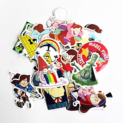 Meet Holiday Cartoon Stickers Gravity Falls Theme PVC Waterproof Stickers Decorate Laptop, Notebooks, Car, Bicycle, Skateboards, Luggage etc(25pcs)